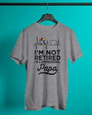Autism I'm Not Retired A Professional Papa Classic T-Shirt lifestyle-mens-crewneck-front-3