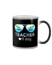 Teacher off duty  Color Changing Mug thumbnail