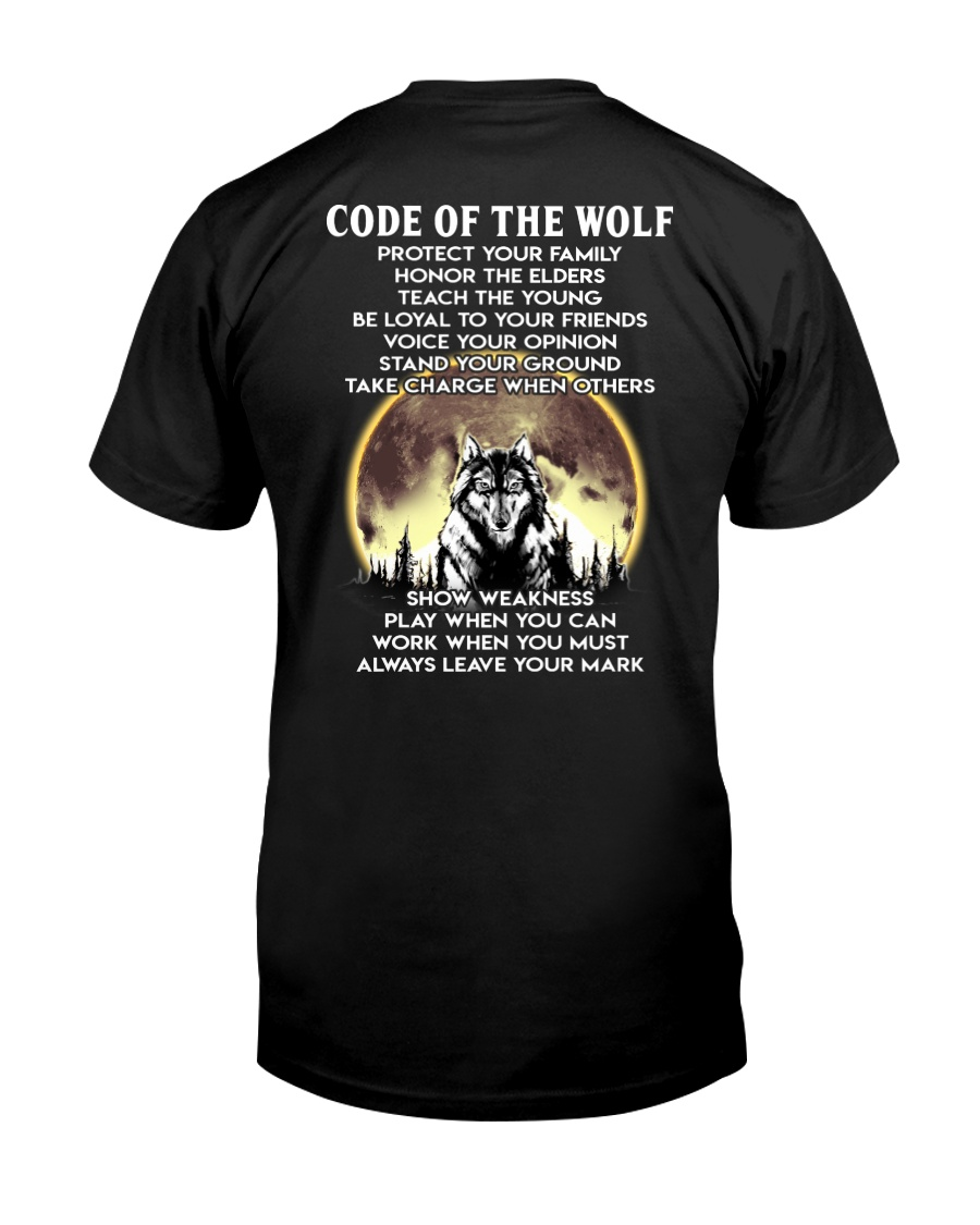 Code Of The Warrior Wolf Classic T-Shirt