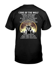 Code Of The Warrior Wolf Classic T-Shirt back