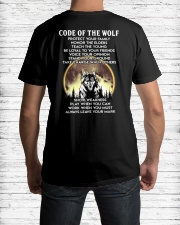 Code Of The Warrior Wolf Classic T-Shirt lifestyle-mens-crewneck-back-1
