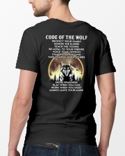 Code Of The Warrior Wolf Classic T-Shirt lifestyle-mens-crewneck-back-5