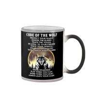 Code Of The Warrior Wolf Color Changing Mug thumbnail