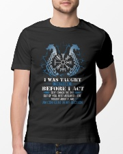 Viking Nordic Taught To Think Before Acting Classic T-Shirt lifestyle-mens-crewneck-front-13