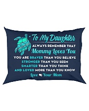 Turtle Mommy Loves You Daughter Rectangular Pillowcase back