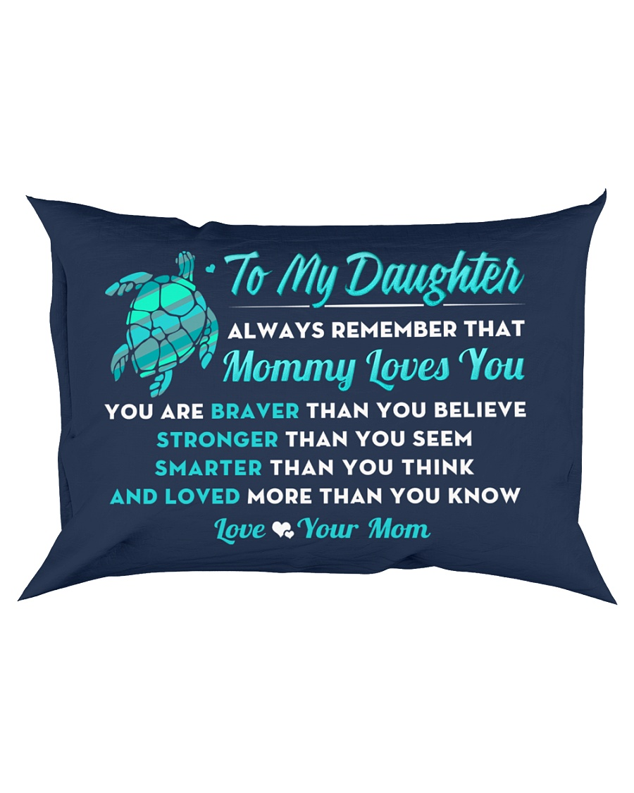 Turtle Mommy Loves You Daughter Rectangular Pillowcase