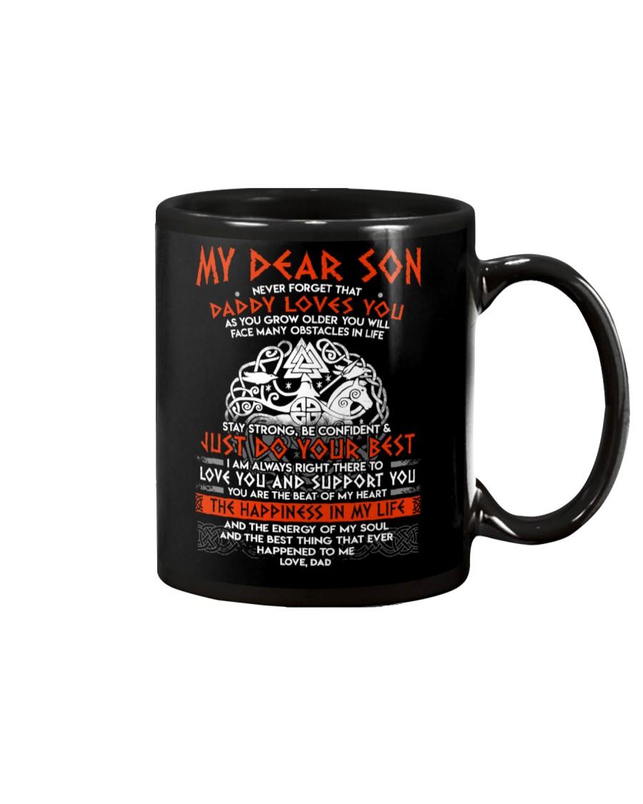 Viking Dad Son Stay Strong Mug