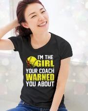 Softball I'm the girl Ladies T-Shirt lifestyle-holiday-womenscrewneck-front-1