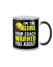 Softball I'm the girl Color Changing Mug thumbnail