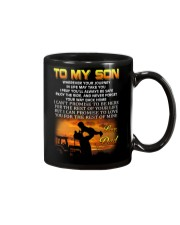 Farmer to my son mug Mug front
