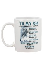 Wolf Son Always remember In This Family  Mug back