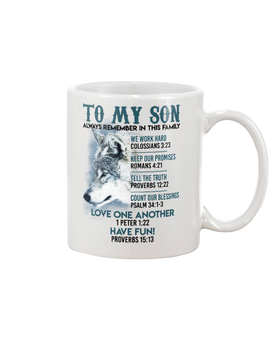 Wolf Son Always remember In This Family  Mug