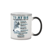 Wolf Son Always remember In This Family  Color Changing Mug thumbnail
