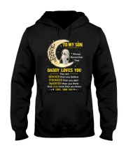 Old English Sheepdog Son Dad Daddy Loves You Hooded Sweatshirt thumbnail