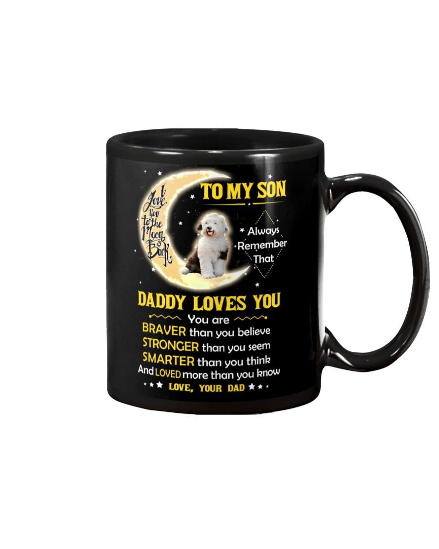 Old English Sheepdog Son Dad Daddy Loves You Mug