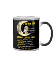 Old English Sheepdog Son Dad Daddy Loves You Color Changing Mug thumbnail