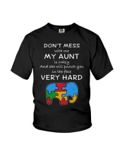 Autism My Aunt Will Punch You In The Face Youth T-Shirt thumbnail