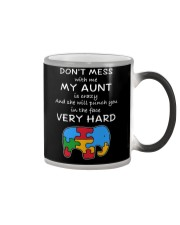 Autism My Aunt Will Punch You In The Face Color Changing Mug thumbnail