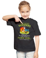 Farmer Mom Attitude  Youth T-Shirt lifestyle-youth-tshirt-front-2