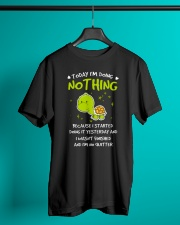 Today I'm Doing Nothing Turtle  Classic T-Shirt lifestyle-mens-crewneck-front-3