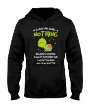 Today I'm Doing Nothing Turtle  Hooded Sweatshirt thumbnail
