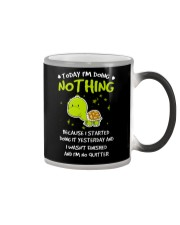 Today I'm Doing Nothing Turtle  Color Changing Mug thumbnail