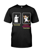 Unicorn Special Education Teacher Classic T-Shirt front