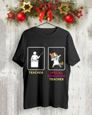 Unicorn Special Education Teacher Classic T-Shirt lifestyle-holiday-crewneck-front-2