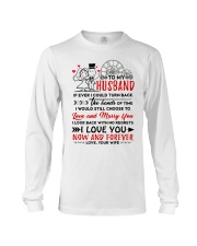 Turn Back Hand Of Time Husband Long Sleeve Tee thumbnail