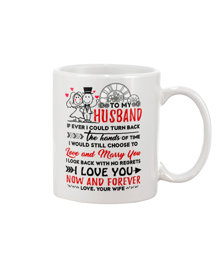 Turn Back Hand Of Time Husband Mug