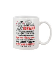 Turn Back Hand Of Time Husband Mug front
