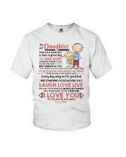 Family Daughter Dad Today Is A Good Day  Youth T-Shirt thumbnail