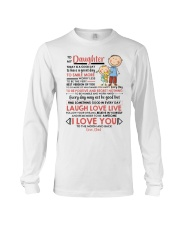Family Daughter Dad Today Is A Good Day  Long Sleeve Tee thumbnail