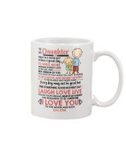Family Daughter Dad Today Is A Good Day  Mug front