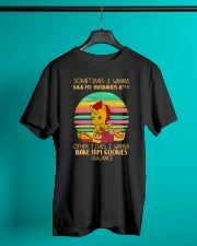 Sometimes I Wanna Kick My Husband Unicorn  Classic T-Shirt lifestyle-mens-crewneck-front-3