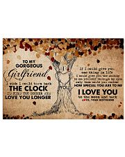 Family Girlfriend Clock Ability Moon 17x11 Poster front