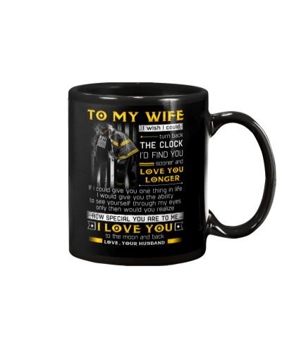 Firefighter Wife Clock Ability Moon