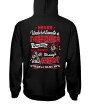 Never Underestimate A Firefighter Hooded Sweatshirt thumbnail