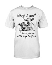 Farmer Plans with my heifers Classic T-Shirt front