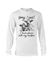 Farmer Plans with my heifers Long Sleeve Tee thumbnail
