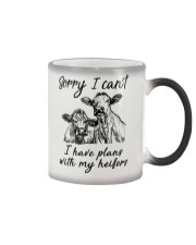 Farmer Plans with my heifers Color Changing Mug thumbnail