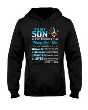 Autism Always Remember Mommy Loves You Son Mom Hooded Sweatshirt thumbnail