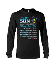 Autism Always Remember Mommy Loves You Son Mom Long Sleeve Tee thumbnail