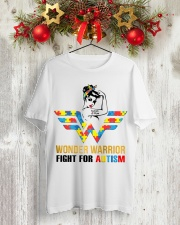 Wonder warrior autism Classic T-Shirt lifestyle-holiday-crewneck-front-2