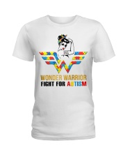 Wonder warrior autism Ladies T-Shirt thumbnail