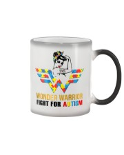 Wonder warrior autism Color Changing Mug tile