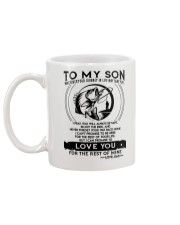 Fishing Son Dad Love You For The Rest Of Mine Mug back