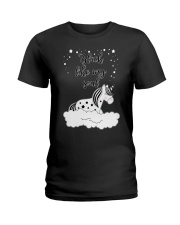 Unicorn Black Like My Soul Mug Ladies T-Shirt thumbnail