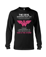 Breast Cancer My Daughter Is The Storm  Long Sleeve Tee thumbnail