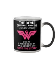 Breast Cancer My Daughter Is The Storm  Color Changing Mug thumbnail